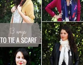 13 Способов завязать шарф фото