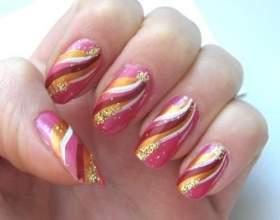 Акриловые краски: рисуем узоры на ногтях фото