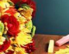 Букет из каких цветов лучше подарить на 1 сентября фото