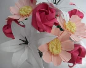 Цветки из бумаги своими руками: создаем вечный букет фото