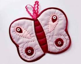 Дизайнерская прихватка «бабочка» фото