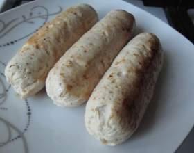 Домашние сосиски из индейки фото