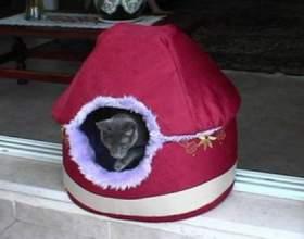 Домик-кроватка для кошки фото