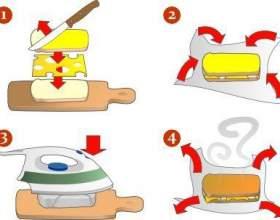 Горячий бутерброд с помощью утюга фото