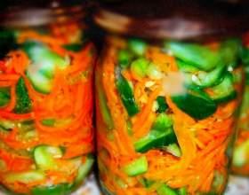 Готовим огурцы с корейской морковью фото