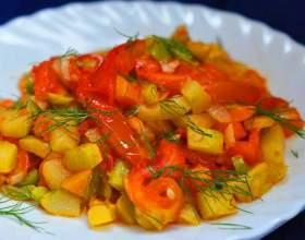 Готовим рагу из кабачков и картофеля фото