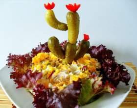 """Готовим салат """"цветущий кактус"""" фото"""