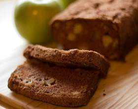 Яблочный хлеб с корицей фото