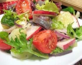 Яблочный салат с сельдью фото