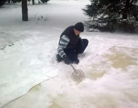 Как чистить снегом ковер фото