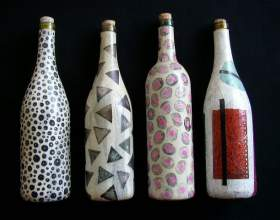 Как декорировать бутылки фото