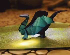 Как делать дракона оригами фото