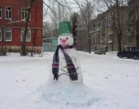 Как делать фигуры из снега фото
