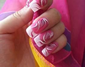 Как делать узоры на ногтях иголкой фото