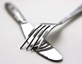 Как держать правильно вилку и нож фото