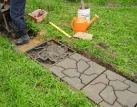 Как изготовить тротуарную плитку из бетона фото