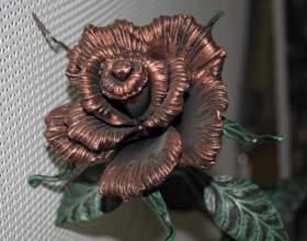 Как ковать розу фото