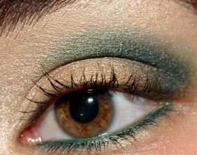 Как красить каре-зеленые глаза фото