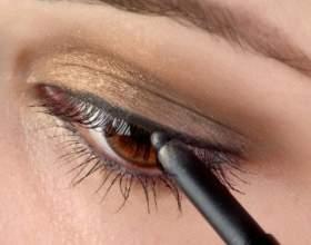Как красить карие глаза карандашом фото