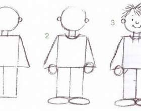 Как легче всего нарисовать человека фото