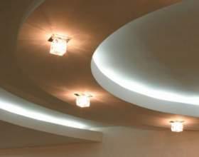 Как монтировать двухуровневый потолок фото