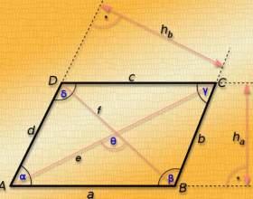 Как найти диагональ параллелограмма, если даны стороны фото