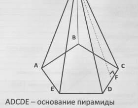 Как найти площадь поверхности пирамиды фото