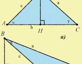 Как найти высоты треугольника фото