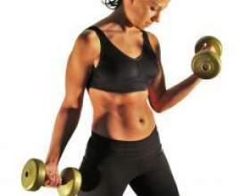 Как накачать мышцы гантелями фото