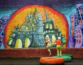 Как написать на стене граффити фото