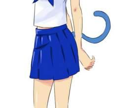Как нарисовать девушку-кошку фото