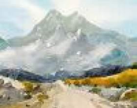 Как нарисовать горы поэтапно карандашом фото