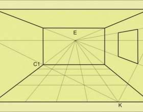 Как нарисовать комнату в перспективе фото