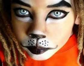 Как нарисовать кота на лице фото