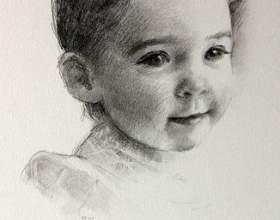 Как нарисовать лицо ребенка фото
