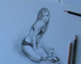 Как нарисовать обнажённых девушек карандашом фото