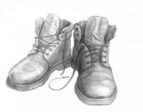 Как нарисовать обувь фото
