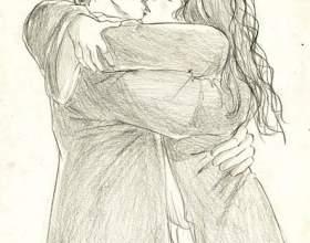 Как нарисовать поцелуй фото