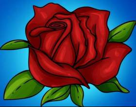 Как нарисовать розу фото