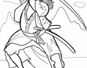Как нарисовать самурая фото