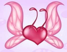 Как нарисовать сердце с крыльями бабочки фото