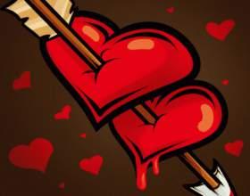 Как нарисовать сердце со стрелой фото