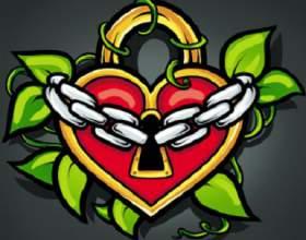 Как нарисовать сердце-замок с цепью поэтапно фото