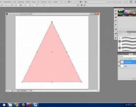 Как нарисовать в фотошопе треугольник фото