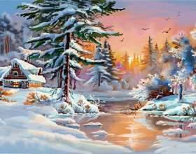 Как нарисовать зимнюю сказку фото