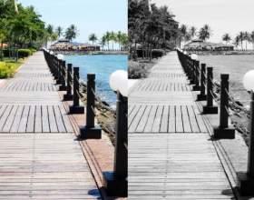 Как обесцветить фото фото