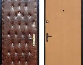 Как обшить дверь дерматином фото
