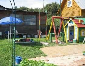 Как обустроить детскую площадку на даче фото