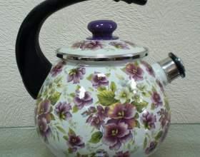 Как очистить эмалированный чайник фото