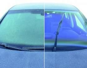 Как очистить стекло от льда фото